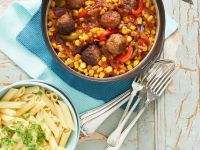 Mexican Penne and Meatballs recipe