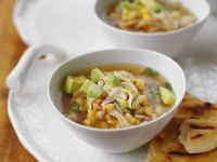 Mexican Soup with Corn and Avocado recipe
