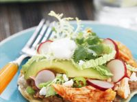 Mexican-style BBQ Chicken Tostadas recipe