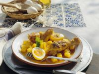 Mexican-Style Chicken with Potatoes, Eggs and Saffron recipe