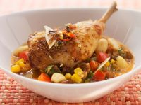 Mexican Tequila Chicken over Vegetables recipe