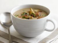 Microwave Mushroom and Bacon Soup recipe