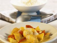Microwaved Fish Curry with Banana and Pineapple recipe