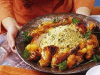 Middle Eastern Roast Chicken with Couscous recipe