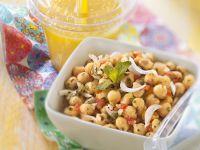 Middle Eastern Salad with Orange Lassi recipe