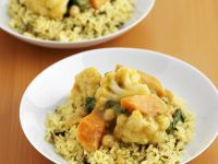 Mild Vegetable Curry with Rice