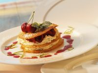 Mille-feuille with Cherries and Buttermilk Mousse