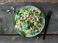 Millet Salad with Spinach and Peas recipe