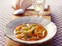 Minestrone Soup with Celery and Carrots recipe