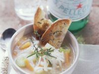 Minestrone Soup with Toast recipe