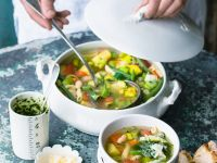 Minestrone with Pesto Sauce recipe