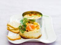 Mini Cheese Quiches with Smoked Salmon recipe