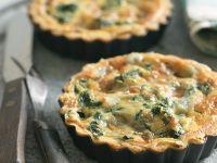 Mini Gorgonzola and Spinach Quiches recipe