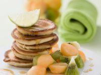 Mini Pancakes with Fruit recipe