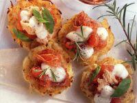 Mini Potato Pizzas with Tuna and Mozzarella recipe