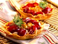 Mini Puff Pastry Tarts with Plums recipe