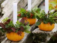 Mini Pumpkins as Candlesticks recipe