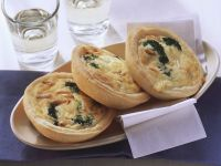 Mini Quiches with Broccoli and Pine Nuts