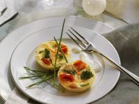 Mini Quiches with Herb Cream recipe