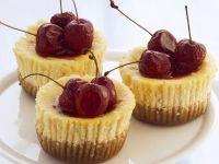 Mini Ricotta Cheesecakes with Cherries recipe