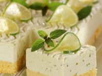 Mint and Lime Cake Squares recipe