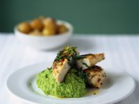 Minted Pea Puree with Chicken recipe