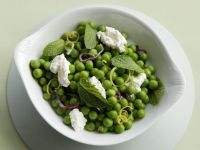 Minted Pea Salad with Soft Cheese recipe