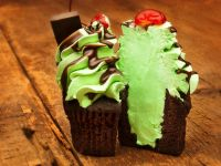 Minty Cupcakes with Cherry on Top recipe