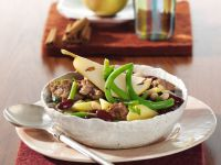 Mixed Bean Stew with Pears recipe