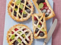 Mixed Berry Lattice Pies recipe