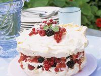 Mixed Berry Meringue Cake recipe