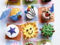 Mixed Decorated Cupcakes recipe
