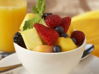 Mixed Fruit Bowl with Mint recipe