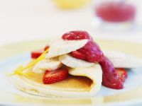Mixed Fruit with Pancakes recipe