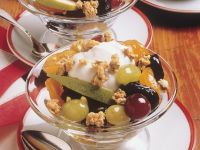 Mixed Fruit with Yogurt and Granola recipe
