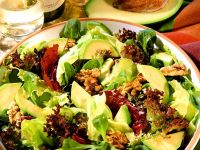 Mixed Green Salad with Avocado and Walnuts recipe