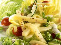Mixed Green Salad with Cheese and Nuts recipe