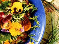 Mixed Green Salad with Edible Flowers recipe