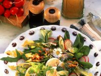 Mixed Green Salad with Egg and Radish recipe