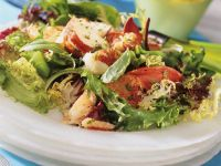 Mixed Green Salad with Lobster