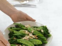 Mixed Green Vegetables with Almonds recipe