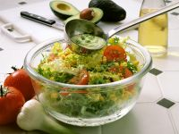Mixed Greens with Avocado Dressing recipe