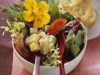 Mixed Greens with Cheese recipe