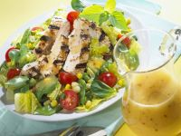Mixed Greens with Grilled Chicken Breast recipe