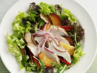 Mixed Greens with Plums and Chicken Breast recipe