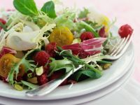 Colorful Salad with Raspberries recipe