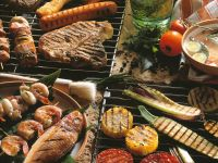 Mixed Grilled Seafood, Meat and Vegetables recipe
