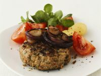 Mixed Meat Patties with Salad recipe