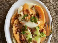 Mixed Melon Salad with Walnut Dressing recipe