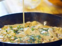 Mixed Mushroom Blue Cheese Sauce recipe